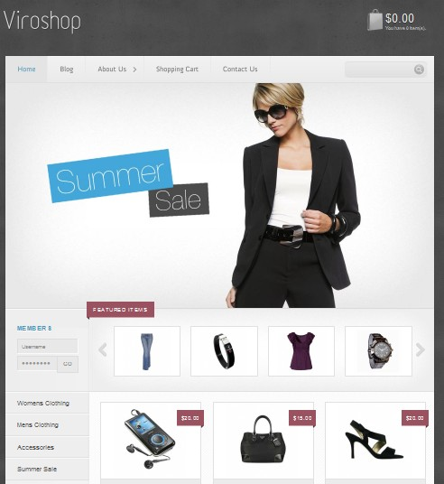 viroshop wordpress theme for sale