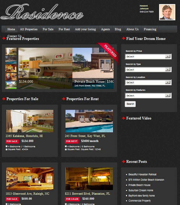 real estate wordpress theme for agents