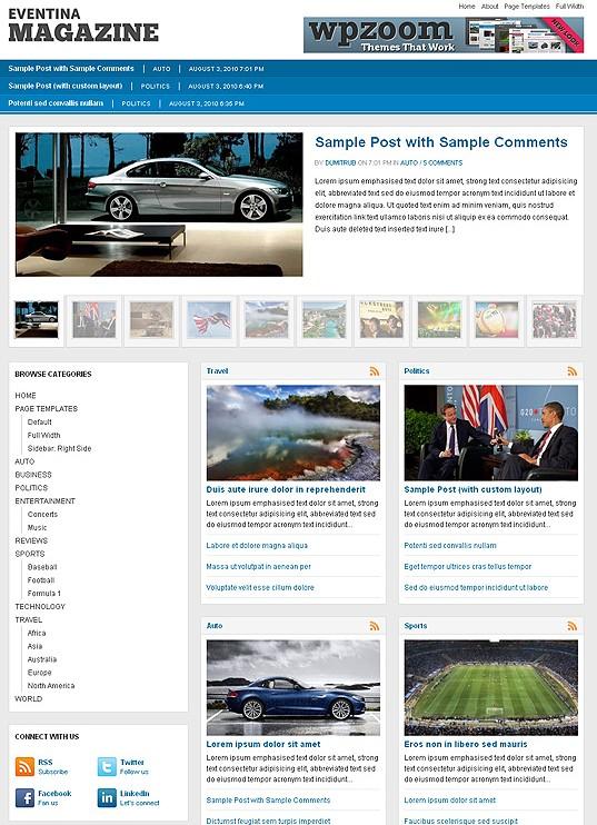 wpzoom eventina magazine wordpress theme