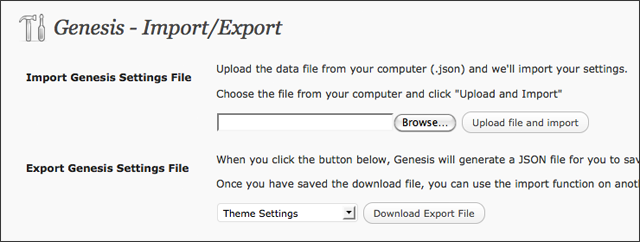 Genesis Import/Export