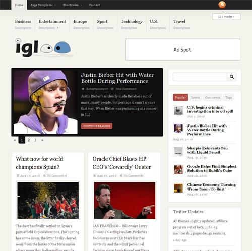 igloo wordpress theme