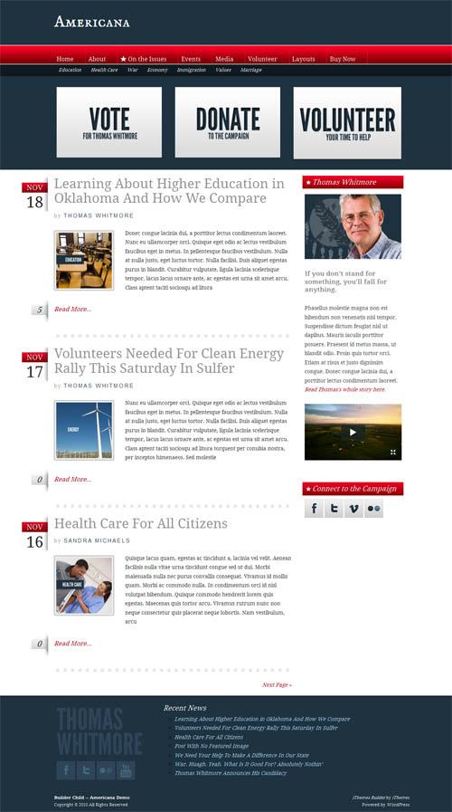 Americana Premium WordPress Theme