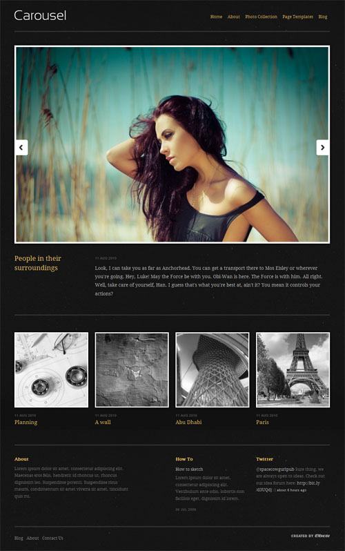 Carousel Photography WordPress Theme