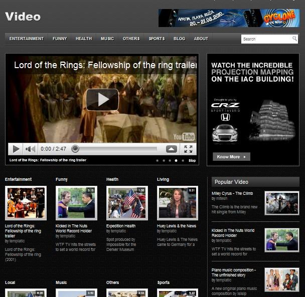 free video wordpress theme