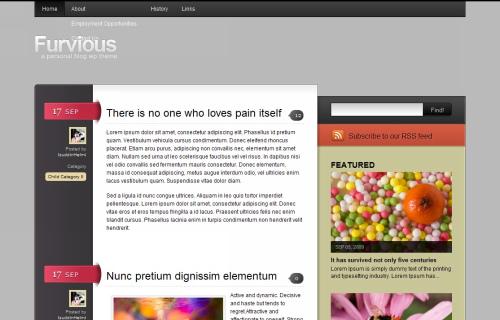 Wordpress-108 in 100 Free High Quality WordPress Themes: 2010 Edition