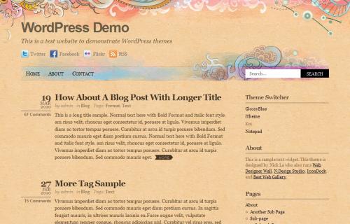 Wordpress-127 in 100 Free High Quality WordPress Themes: 2010 Edition
