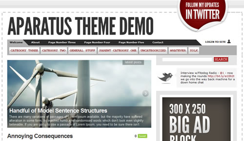 Sm WordPress Theme 03 in 100 Free High Quality WordPress Themes: 2010 Edition