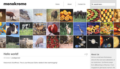 Sm WordPress Theme 57 in 100 Free High Quality WordPress Themes: 2010 Edition