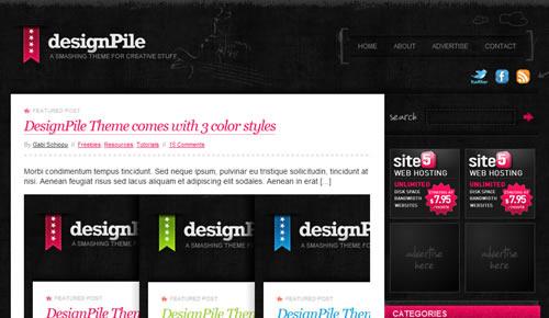 Sm WordPress Theme 14 in 100 Free High Quality WordPress Themes: 2010 Edition