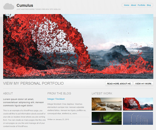 Wordpress-130 in 100 Free High Quality WordPress Themes: 2010 Edition