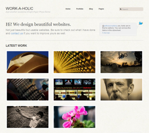 Wordpress-135 in 100 Free High Quality WordPress Themes: 2010 Edition