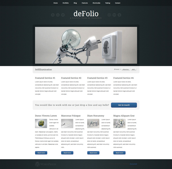 defolio-portfolio wordpress theme