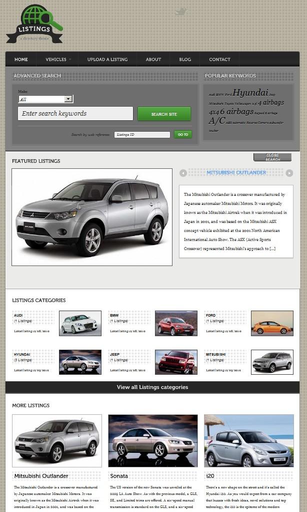 listing wordpress theme