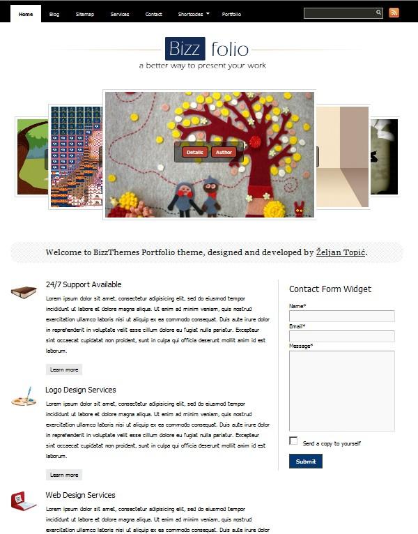 portfolio wordpress theme bizzfolio