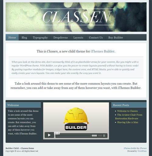 classen wordpress theme
