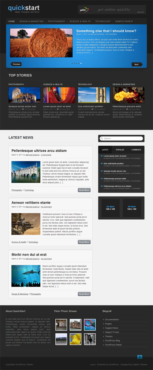 Quick Start Premium WordPress Theme