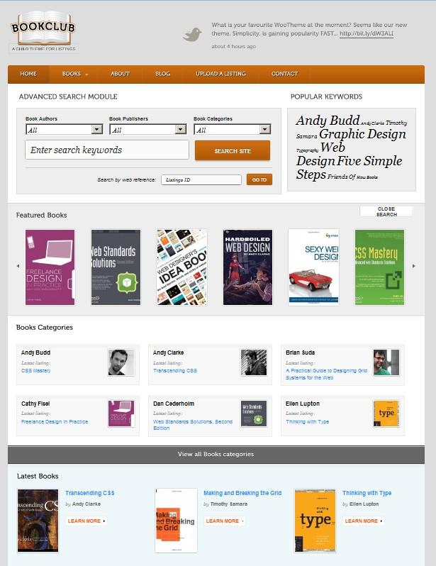 book store wordepress theme