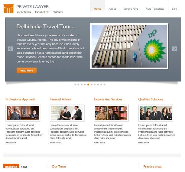 private lawyer cms wordpress theme