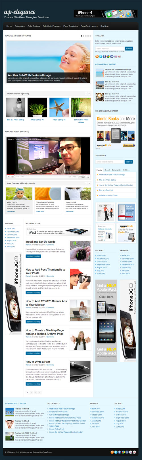 WP Elegance Premium WordPress Theme