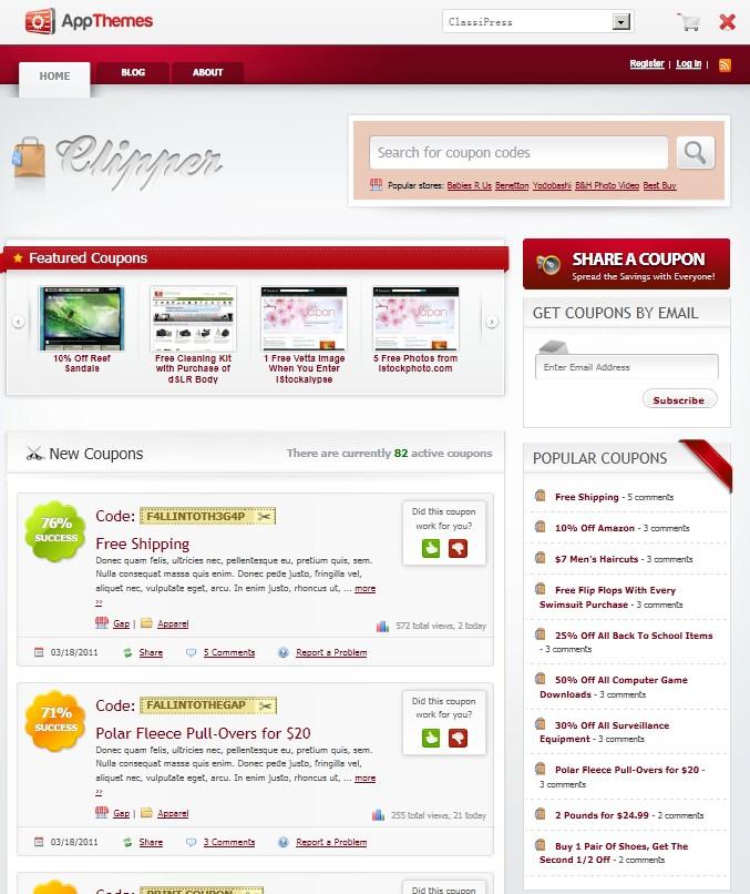 coupon wordpress theme