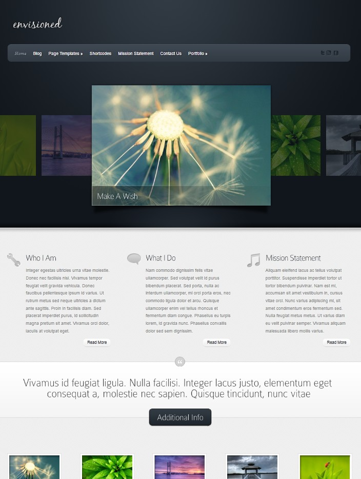 portfolio wordpress theme envisioned