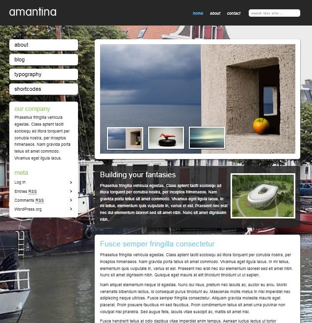 simple clean travel wordpress template