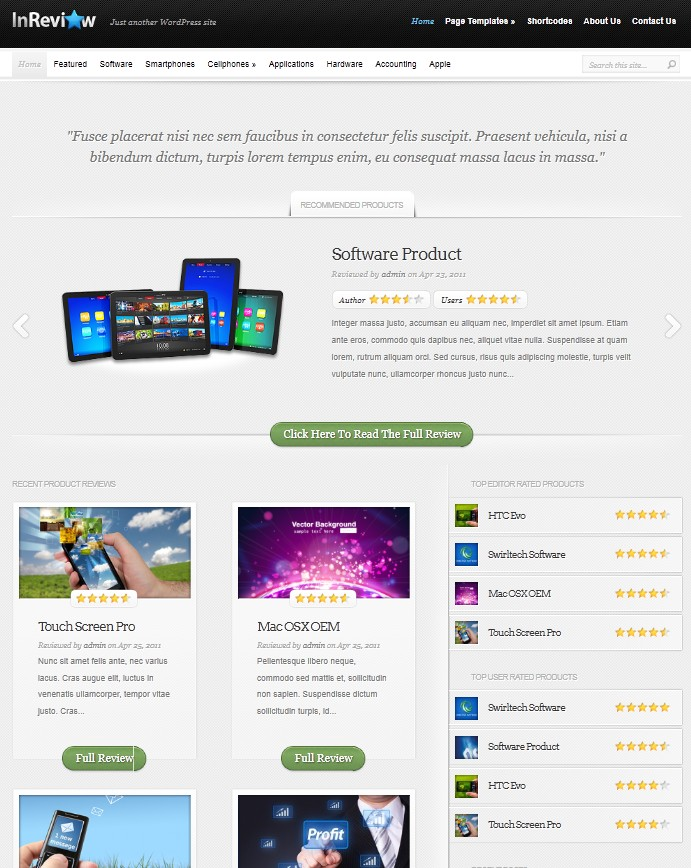 wordpress review theme