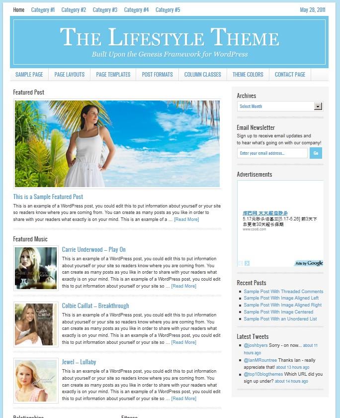 studiopress lifestyle magazine wordpress theme