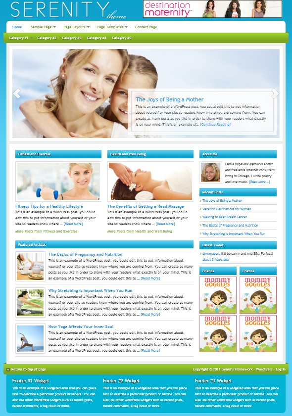 Serenity Child wordpress Theme