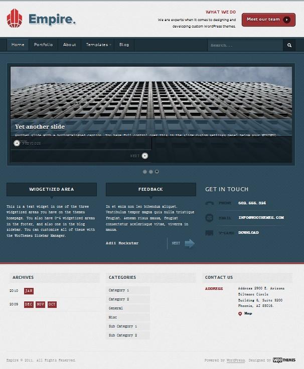 wordpress business theme empire