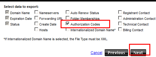export domains 2
