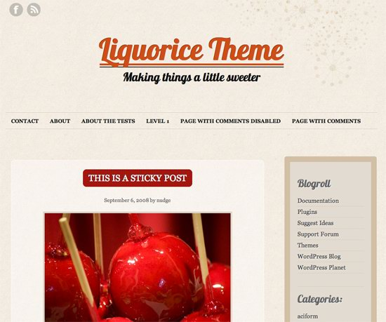 Liquorice WordPress Theme