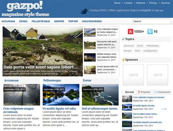 GazpoMag WordPress Theme