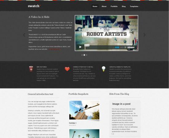 Swatch WordPress Theme
