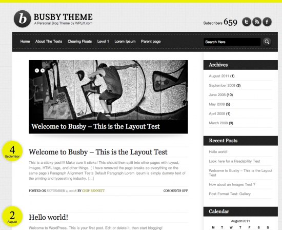 Busby WordPress Theme
