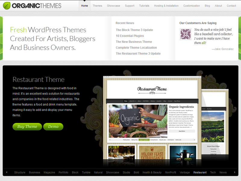 OrganicThemes Review