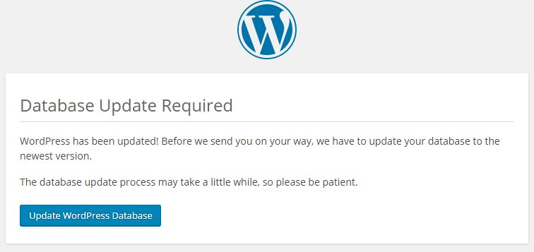 wordpress update 4.4 error